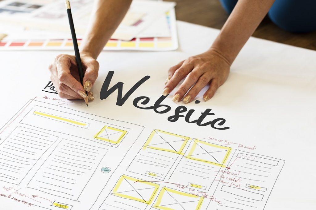 Website designer planning the website structure