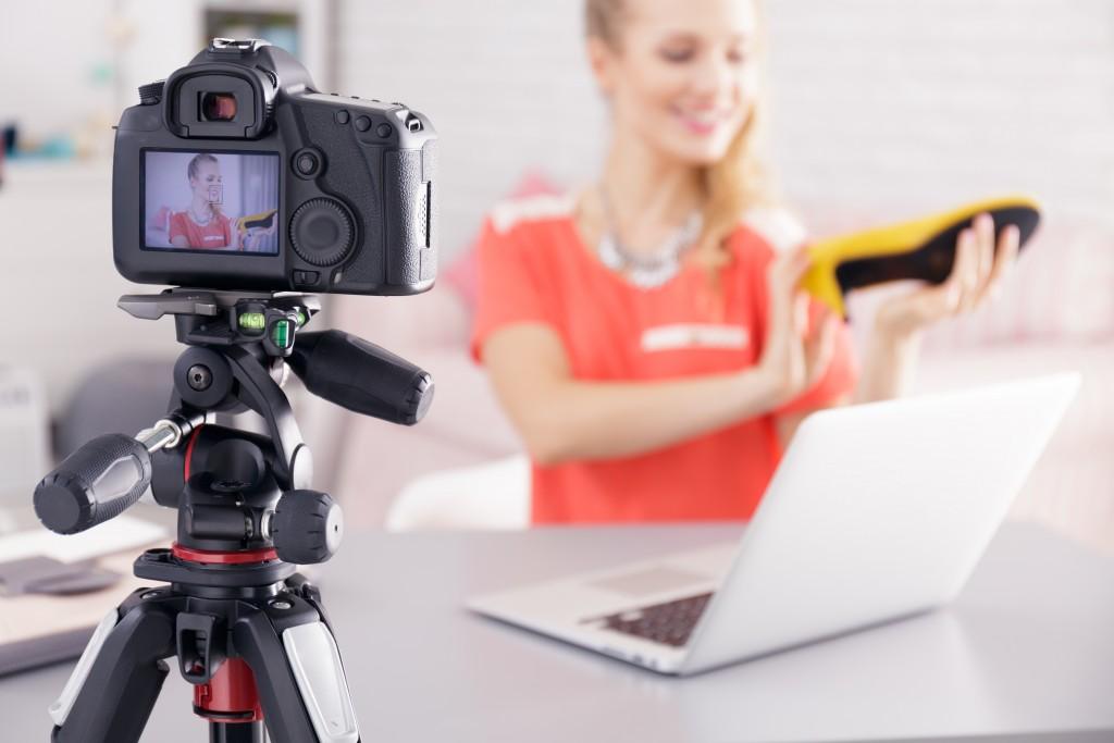 camera of vlogger
